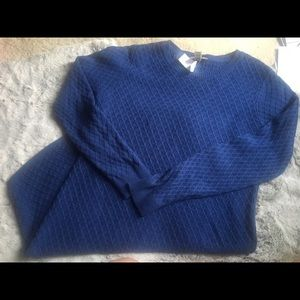 Loft blue sweater dress (L)
